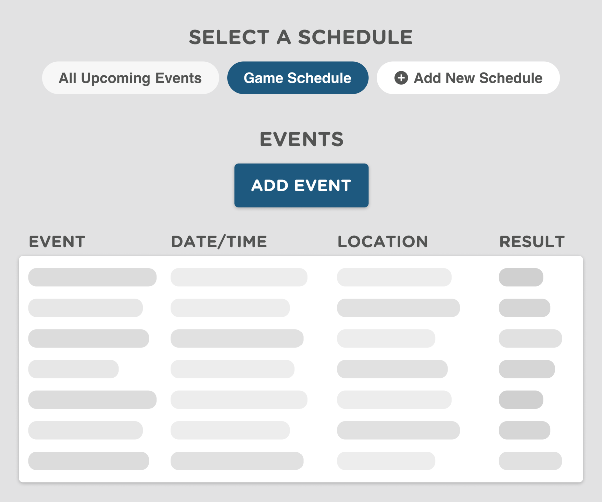 Create Team Schedules