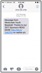 sponsored text message