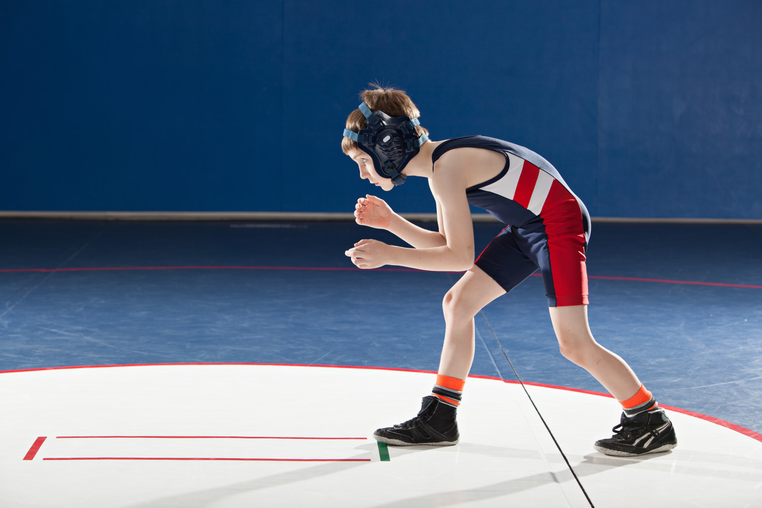 Youth Wrestling Stance