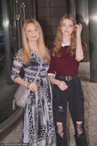 Olga Borys z córką - ea