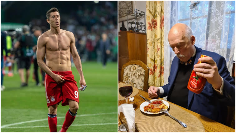 Janusz Korwin Mikke poleca Lewandowskiemu dietę fastfoodową na lepszą formę podczas Euro 2020.