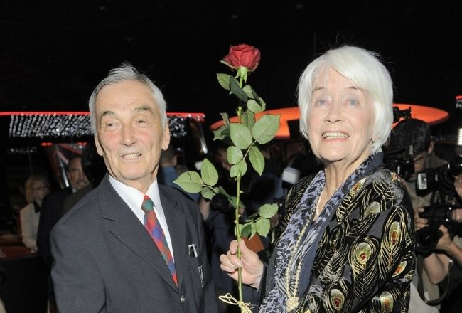 Alina Janowska z mężem