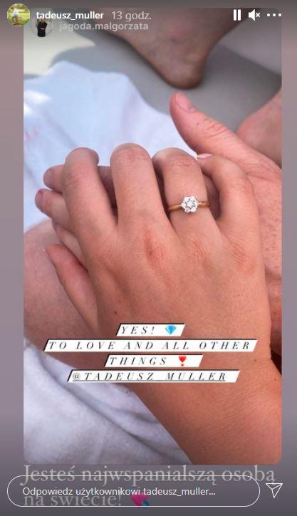tadeusz muller zaręczyny