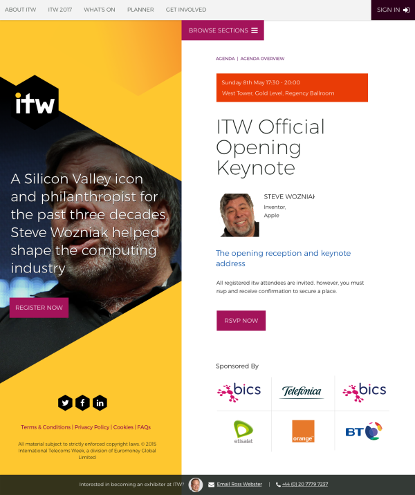 ITW Agenda Session - Keynote design