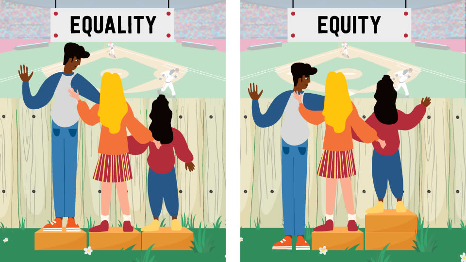 equality versus equity graphic demonstration
