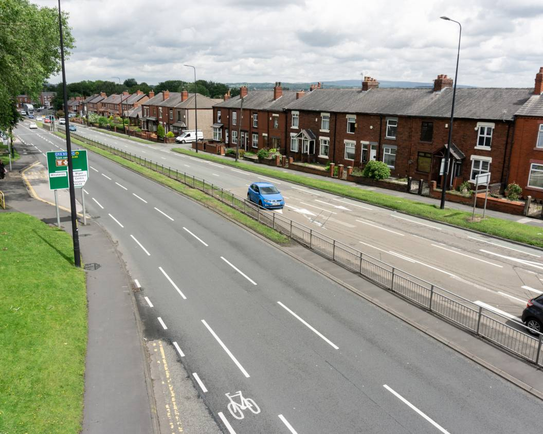 Image of how Warrington Road in Wigan currently looks