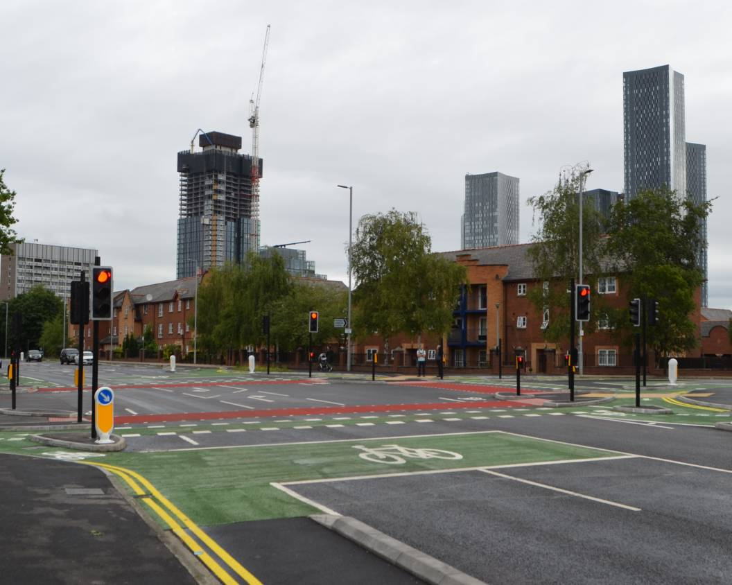 Image of the CYCLOPS junction at Royce Road junction in Hulme, Manchester