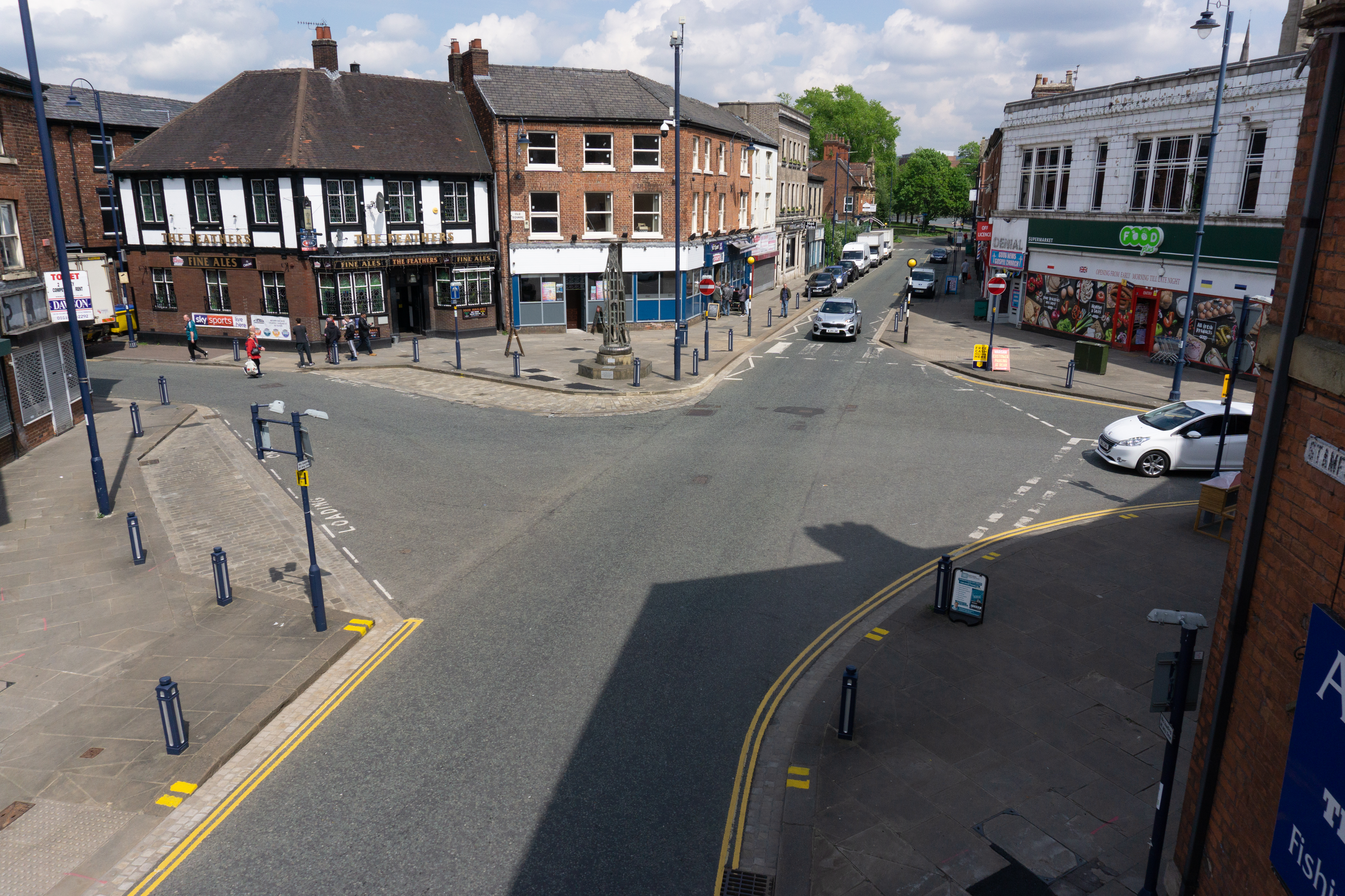 An image of the Stamford Street area in Ashton-under-Lyne