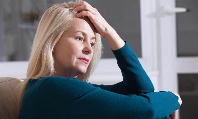 Depressed menopause lady