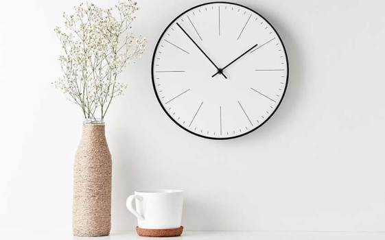 clock hanging on a wall