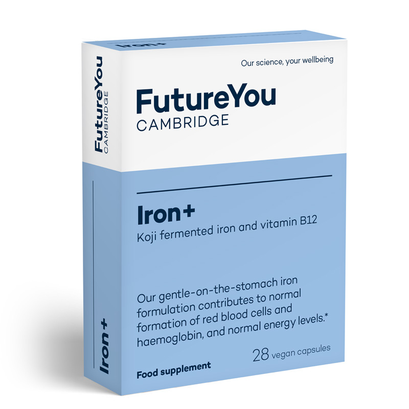 Iron+ With Vitamin B12 Supplements - Vegan-Friendly Iron Tablets For Energy - Natural Source From Fermented Organic Iron
