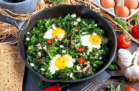 green vegetables for breakfast