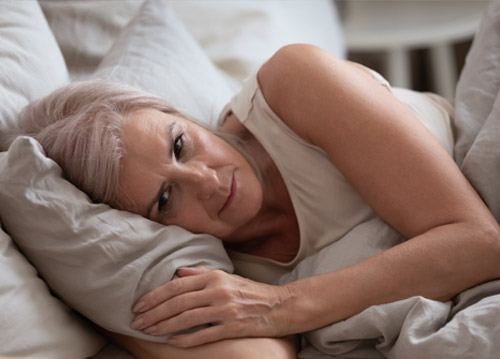 Difficulty sleeping with menopause