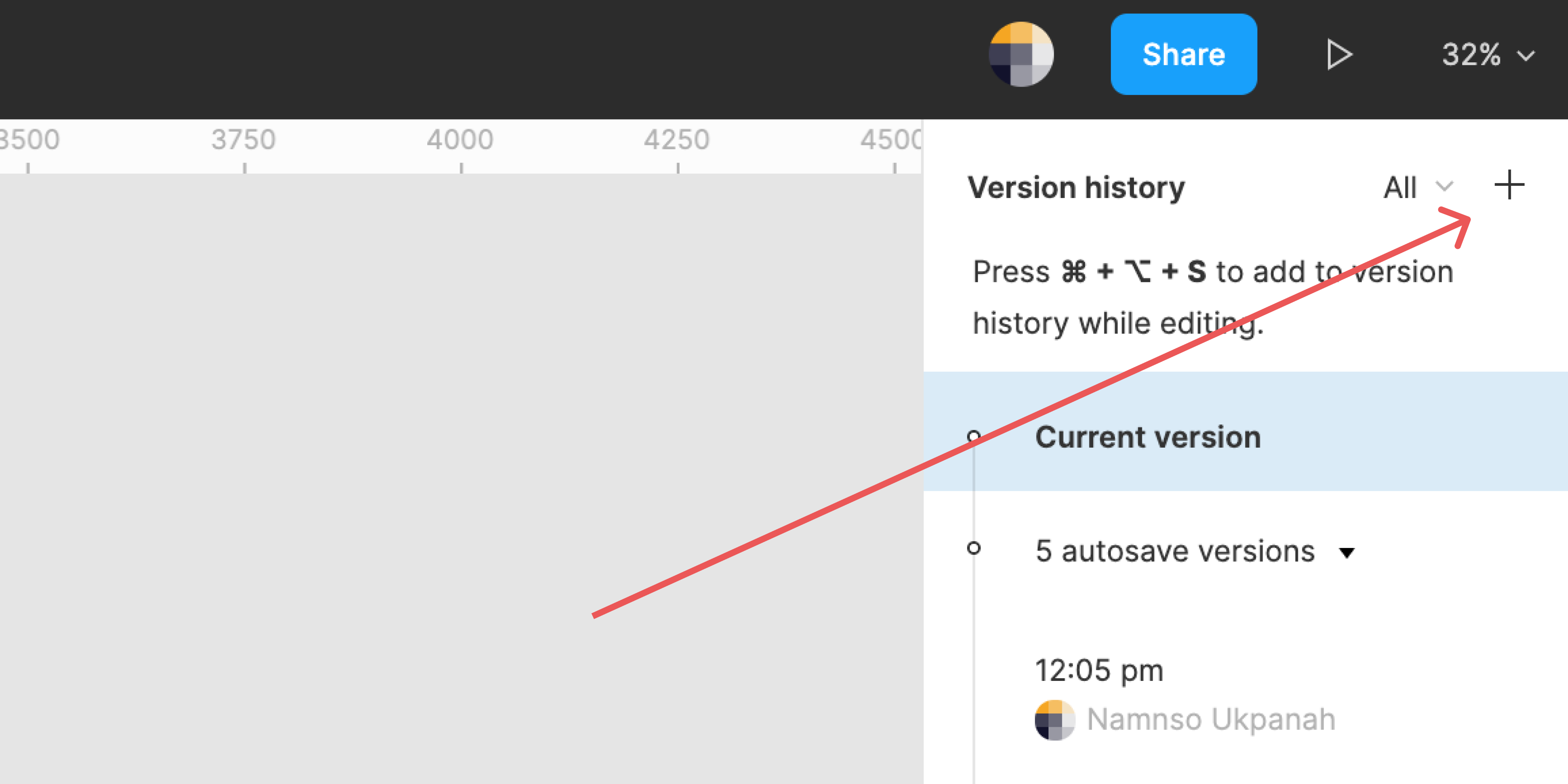 You can manually add a version history