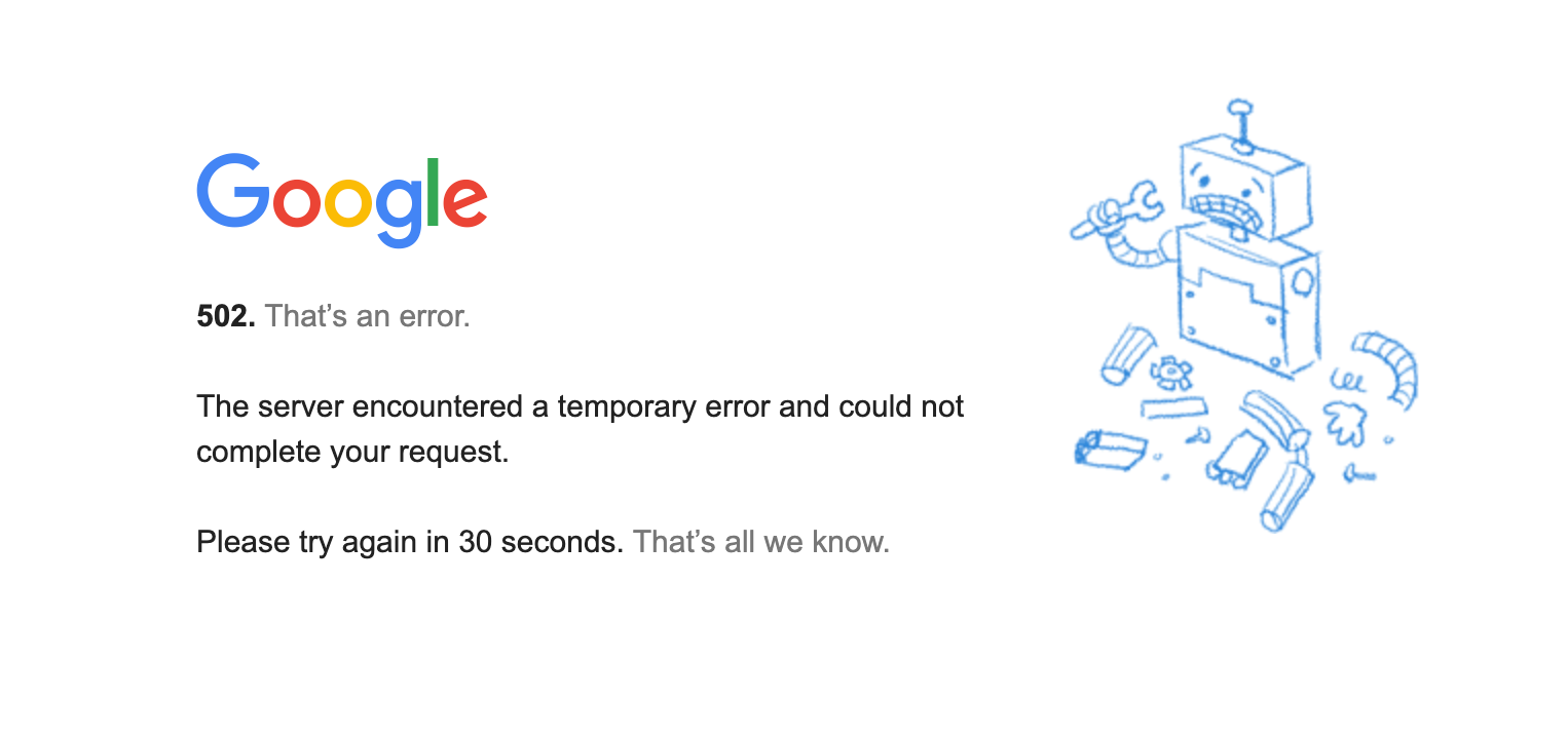 Not a particularly empathetic error message.