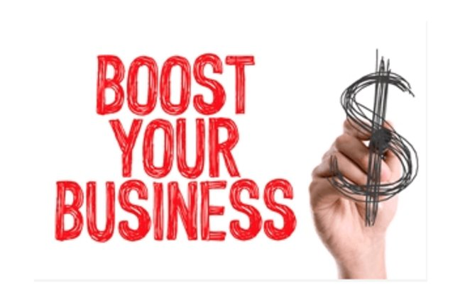 Boost your Business - dollar sign scribble