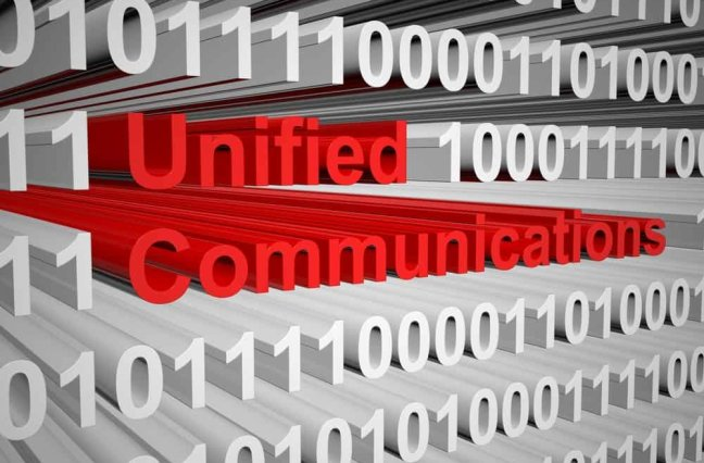 Unified communications as a binary code 3D illustration