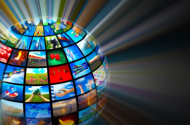 Streaming media technologies concept