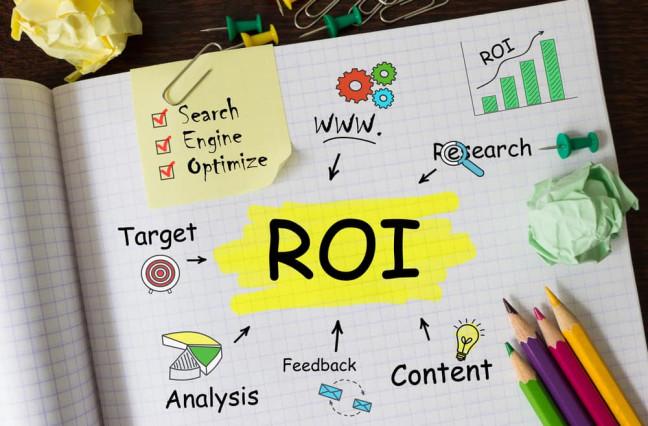 Marketing ROI text graphic.