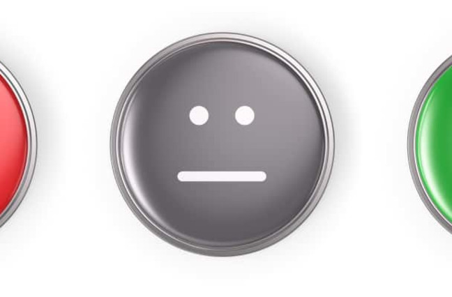 Sad face, neutral face, happy face