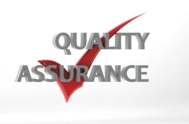 Quality assurance check mark