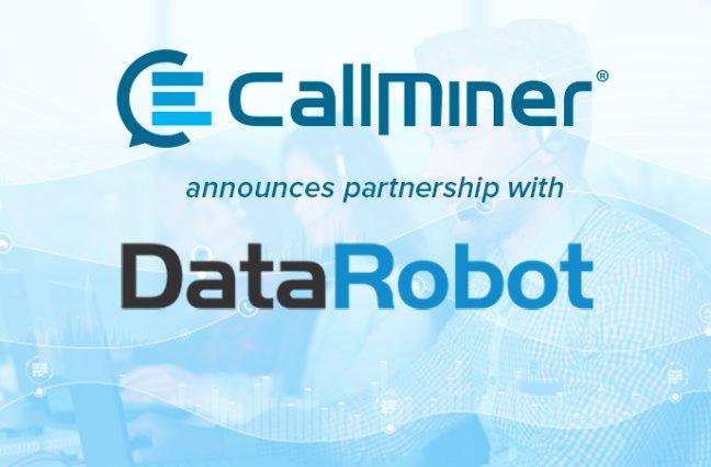 CallMiner and DataRobot logos