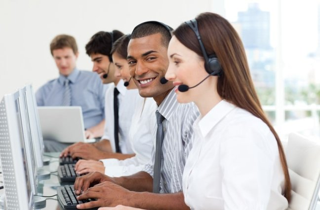 Happy Call Center Agents