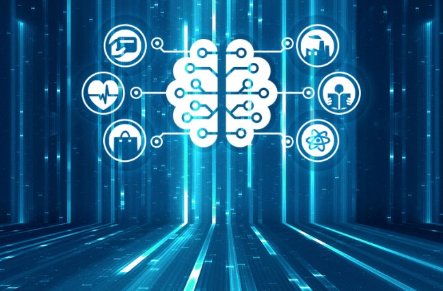 Brain representing artificial intelligence, data mining, genetic programming, machine learning, deep learning, neural networks and another modern computer technologies concepts.