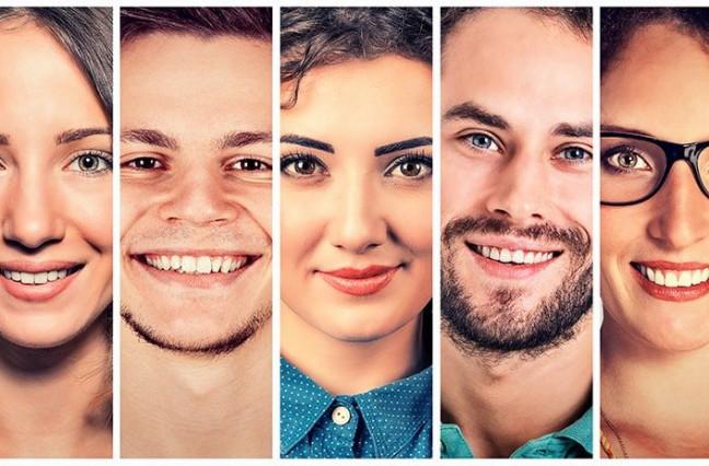 Multiple happy faces