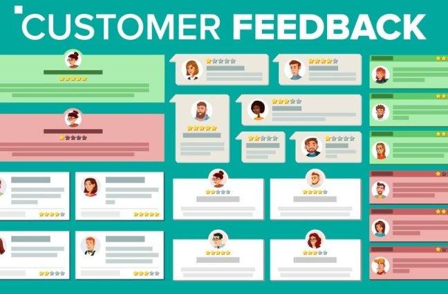 Customer feedback graphic