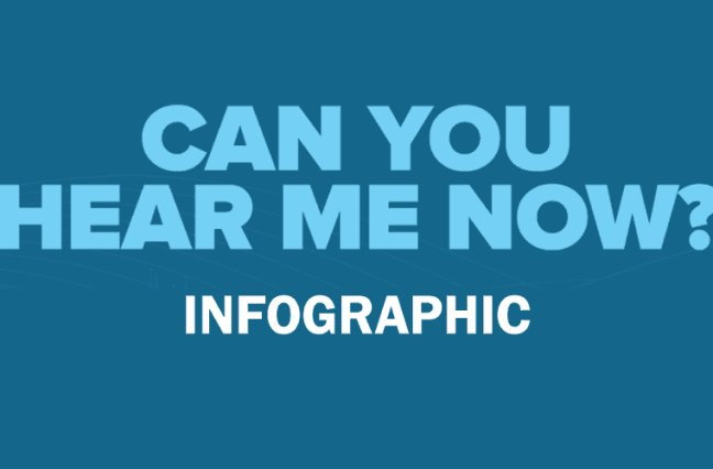 Can you hear me now? infographic