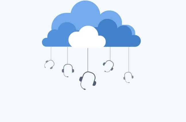 Call center cloud graphic