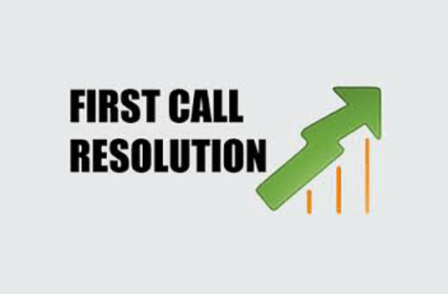 First call resolution graphic