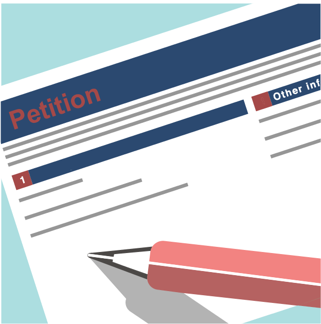 Graphic of an e-petition