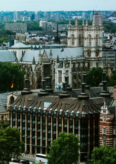 Palace of Westminster and Portcullis House (UK Houses of Parliament)