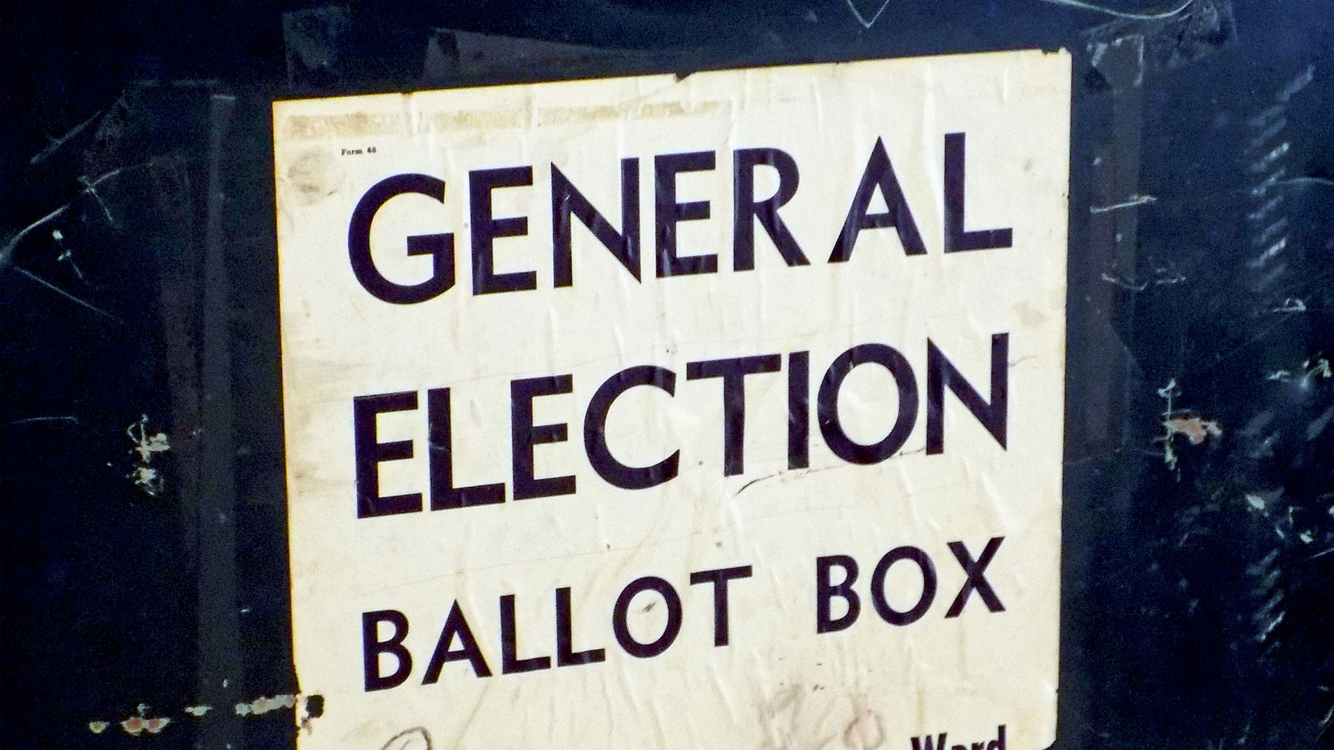 A general election ballot box.