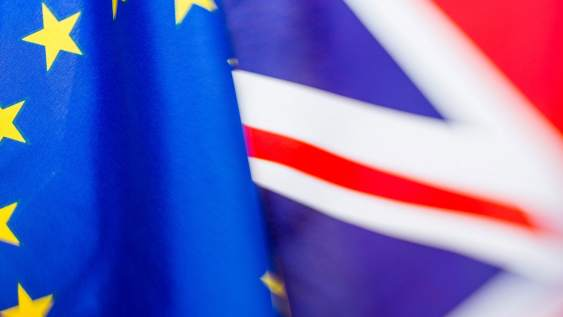 UK and EU flags next to each other