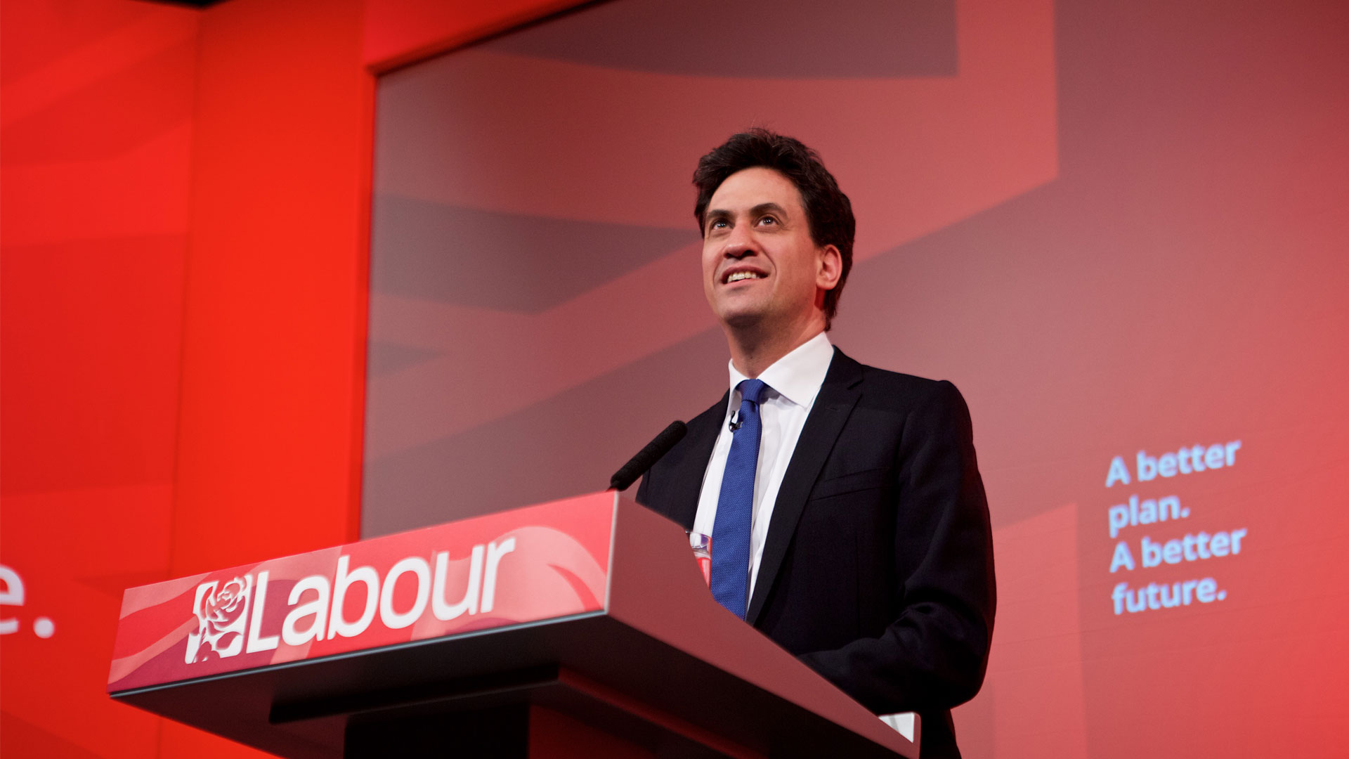 Labour Party Leader of the Opposition Ed Miliband giving a speech during the Labour conference 2015.
