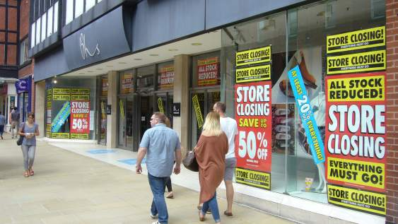 Closing down sale at a BHS store in Chester