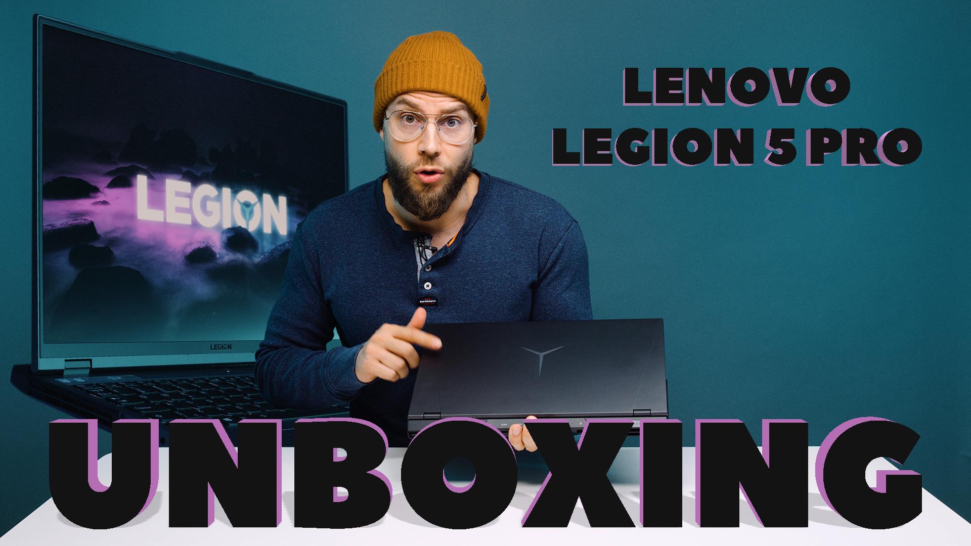Lenovo Legion 5 Pro UNBOXING