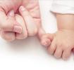 baby and mum hands