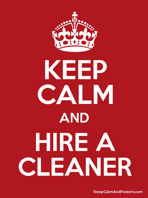 keep calm cleaner