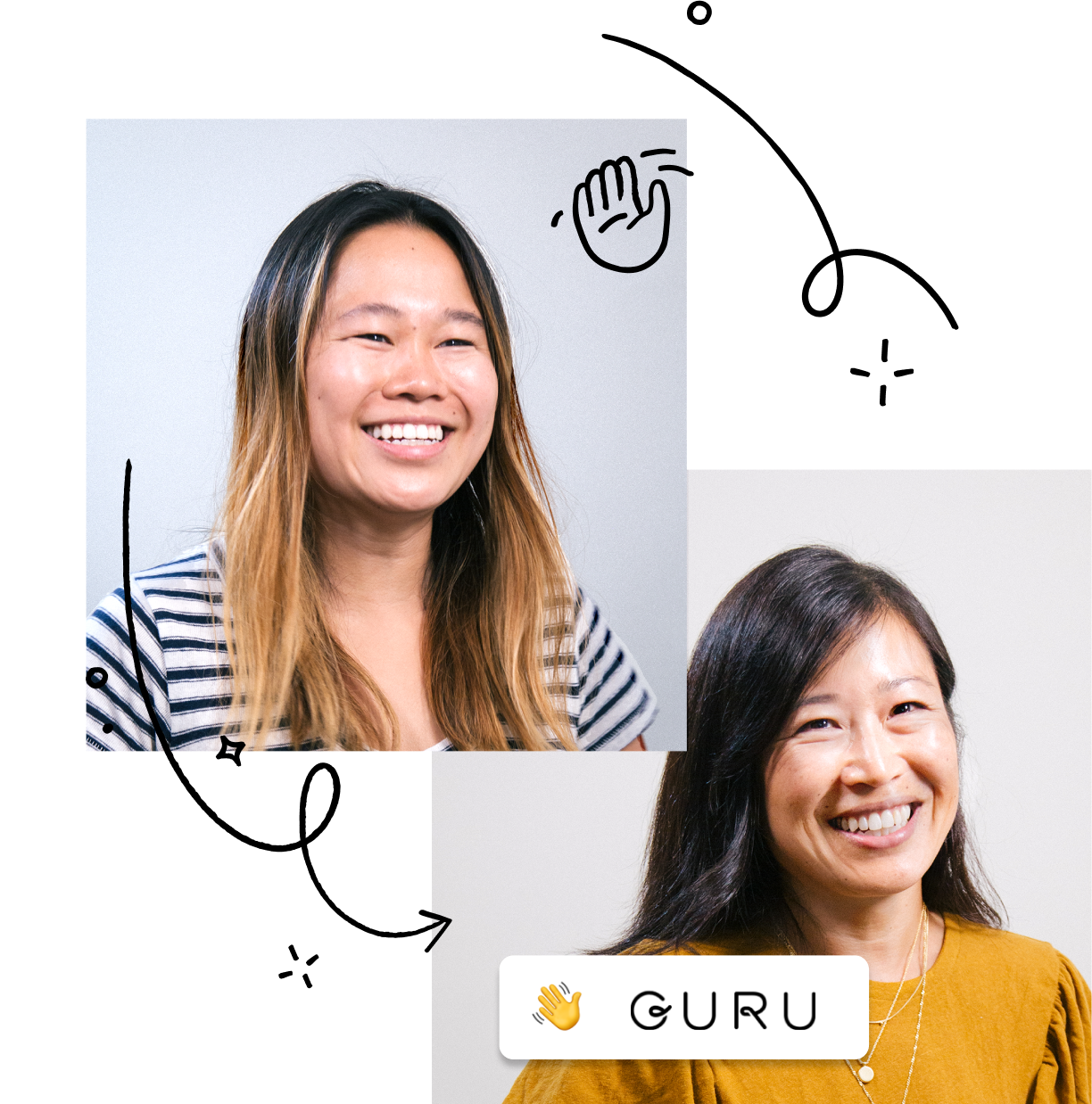 Anne Raimondi, Chief Customer Officer, and June Zhang, Customer Support Manager at Guru