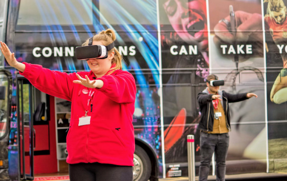 Staffordshire University Case Study External Bus Wrap with virtual reality