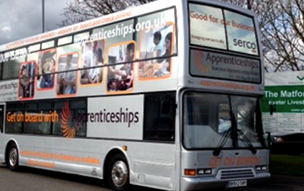 National Apprenticeships External Bus Branding