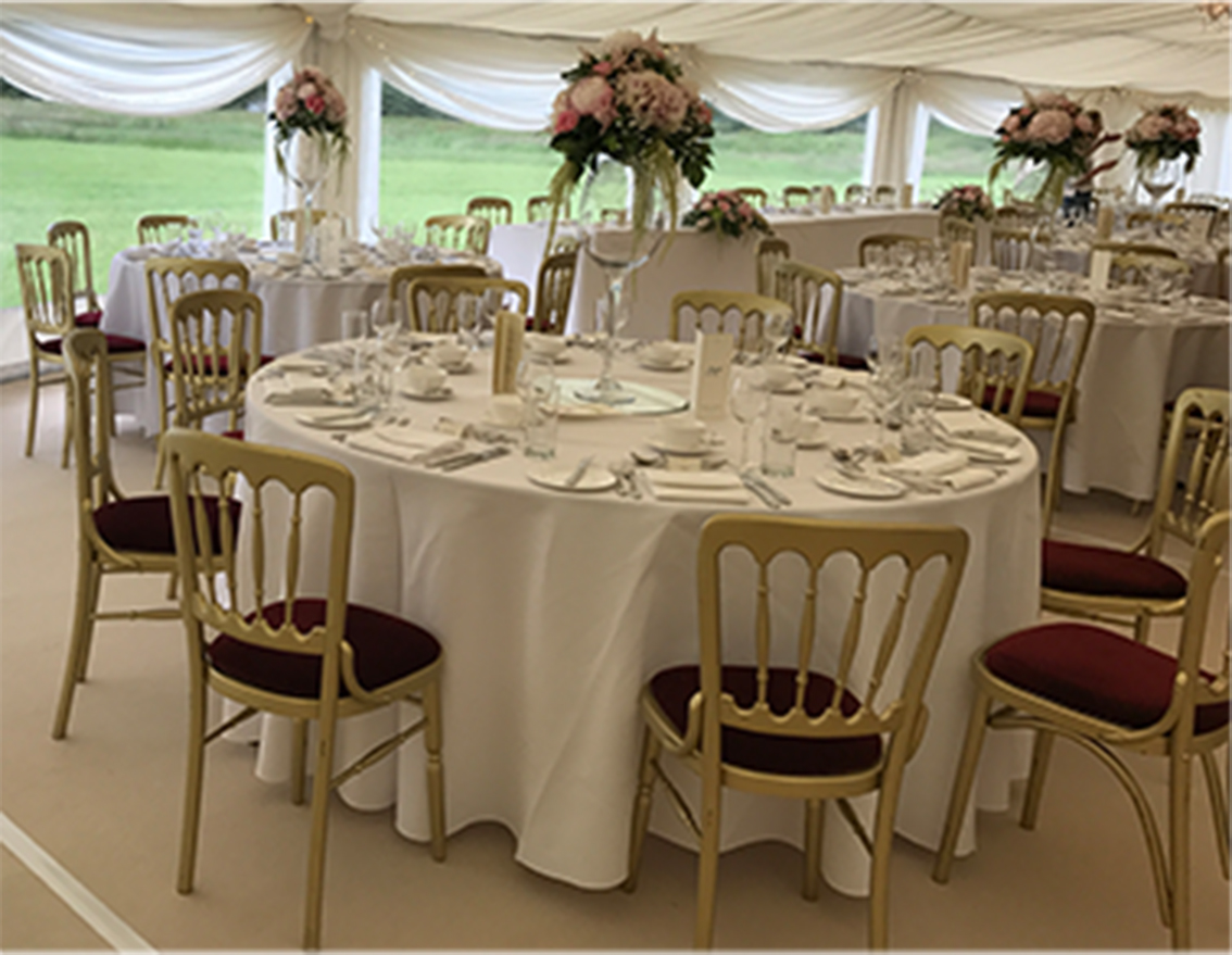 Round trestle tables for hire