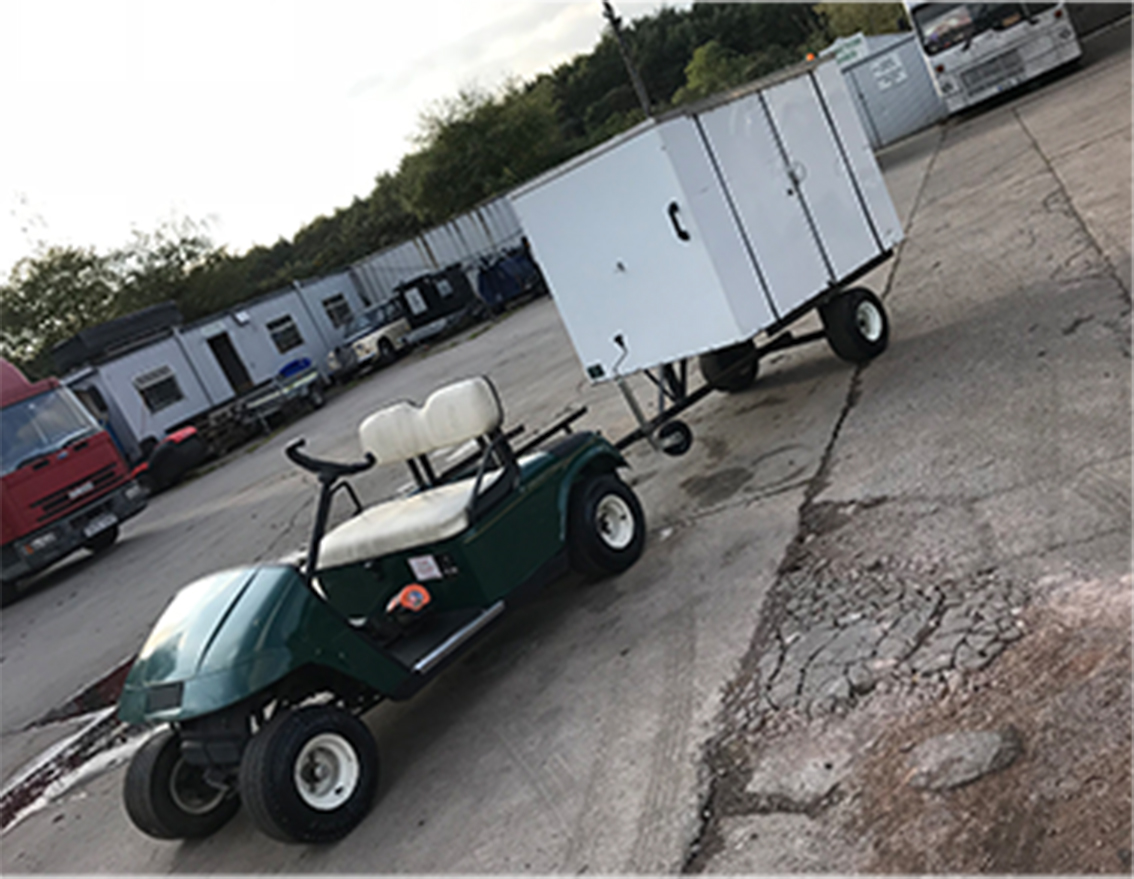 Golf buggy and trailer for hire