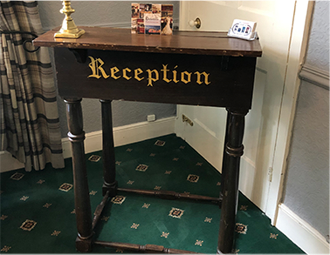 Reception desk for hire