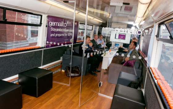 Gemalto Bus Marketing Campaign