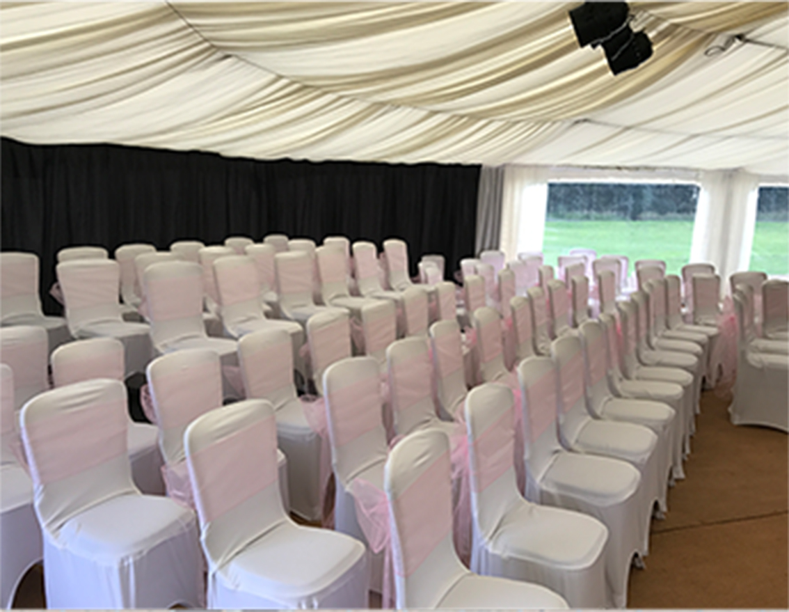 Banquet chairs with covers to hire